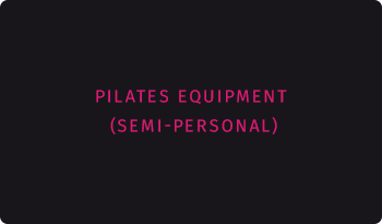Pilates equipment schedule